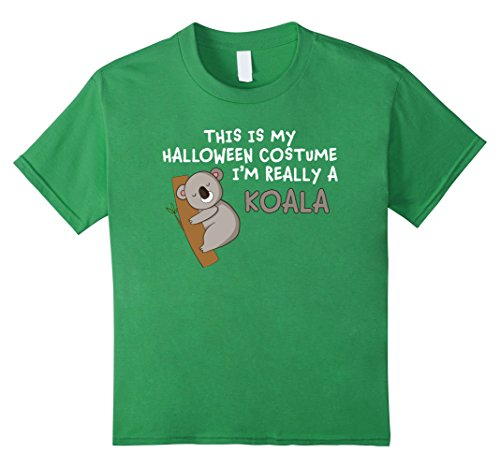 Quick Cute Last Minute Halloween Costumes (Kids This Is My Halloween Costume I'm Really A Koala T-Shirt 4 Grass)
