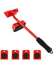 Mainstayae 5 PCS Heavy Duty Furniture Lifter with 4 Sliders Furniture Transport Lifter Hand Tool Set