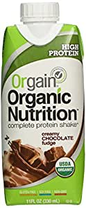 Orgain Creamy Chocolate Fudge, 11-Ounce Container (Pack of 12)(Packaging may vary)