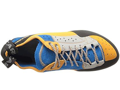 Scarpa Men's Techno X Climbing Shoe,Silver/Azure,43 EU/10 M US