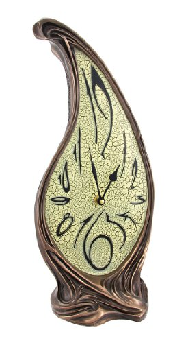 Bronze Finish Melting Mantel Clock Dali-esque