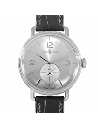 Bell & Ross Vintage WWI- WW2 mechanical-hand-wind mens Watch BRWW1-ME-AG-S (Certified Pre-owned)