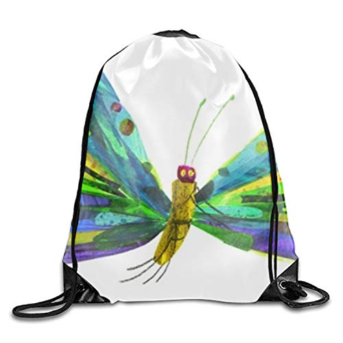 Beautiful Butterfly Costume Nylon Drawstring Drawstring Backpack For Teens -