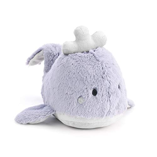 DEMDACO Whale Musical Soft Purple 7 inch Polyester Fabric Plush Stuffed Animal Toy