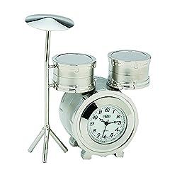 Sanis Enterprises Drum Clock, Mini, Silver