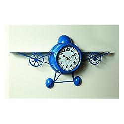 MW Airplane Wall Clock 24X11.75X3.25