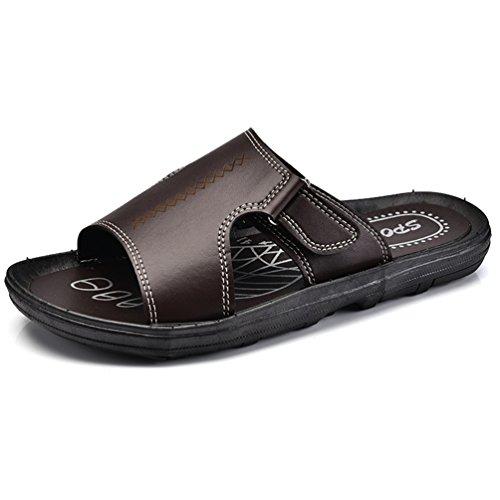 de Bajas Hombre PVC Zapatillas Qianliuk Marrón zaEw7E
