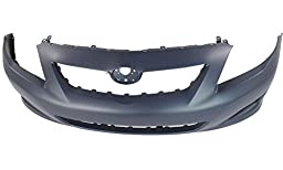 New Evan-Fischer EVA17872018350 Front BUMPER COVER Primed Direct Fit OE REPLACEMENT for 2009-2010 Toyota Corolla *Replaces Partslink TO1000343