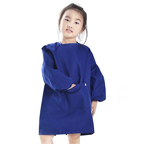 Tablier enfant pour peinture ou bricolage Polyester bleu( 2-6 ans) POAO