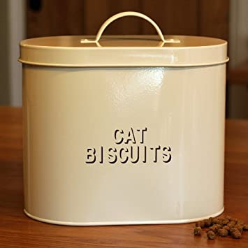 Cream Enamel Metal Dry Cat Food Storage & Cream Enamel Metal Dry Cat Food Storage: Amazon.co.uk: Garden u0026 Outdoors