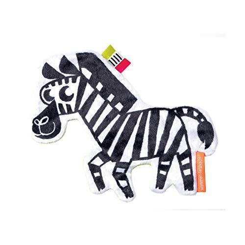 Manhattan Toy Wimmer-Ferguson Crinkle Zebra Baby Sensory Toy with Ribbon Tags