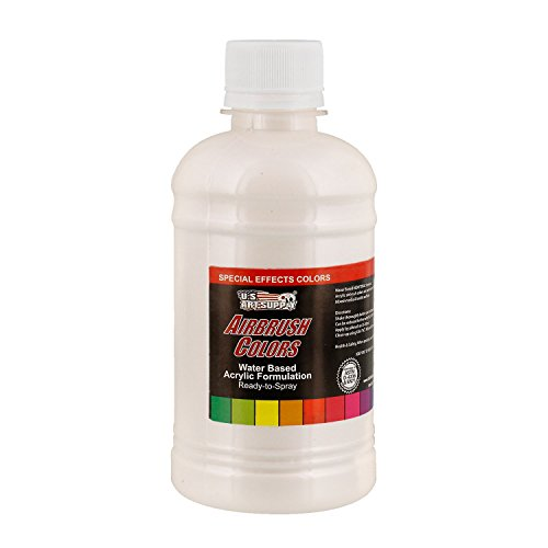 US Art Supply White Pearl Pearlized Special Effects Acrylic Airbrush Paint 8 oz.