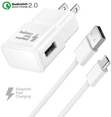 Samsung Galaxy J1 Ace Charger Fast Micro USB 2.0 Cable Kit by Truwire - (Fast Wall Charger + Micro USB Cable)