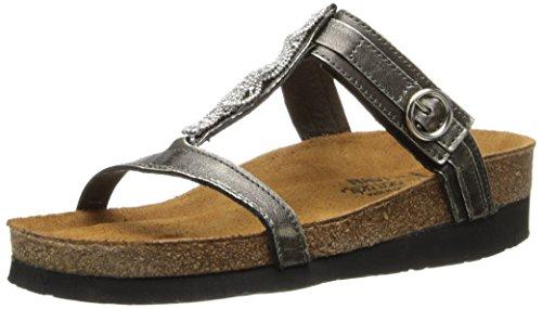 Naot Footwear Womens Malibu Quartz Leather Sandal Metal Leather F3aif