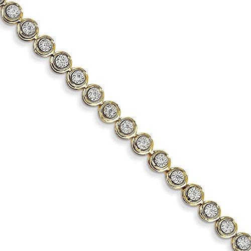 14 carats Diamant rond Bracelet lien-JewelryWeb