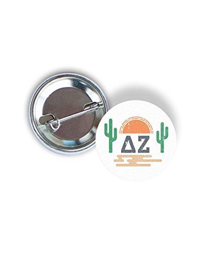 Delta Zeta Sorority Sunset Cactus 2.25-inch Button - Sun Delta