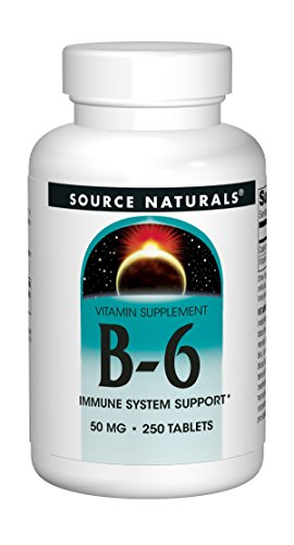Source Naturals B-6 50mg Vitamin - 250 Tablets