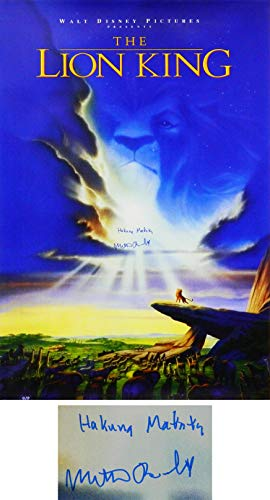 Matthew Broderick Signed The Lion King 27x40 Full Size Movie Poster w/Hakuna Matata ()