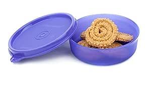 Signoraware Executive Small Round Plastic Container 180ml Deep Violet