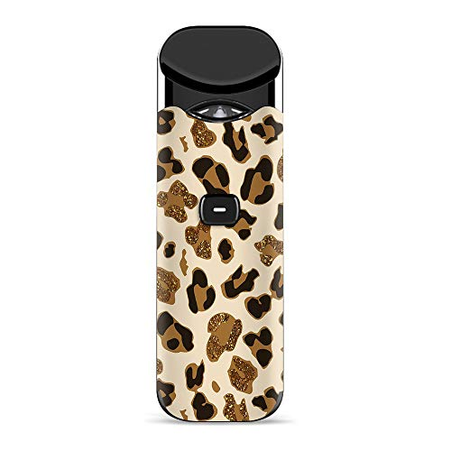 (IT'S A SKIN Decal Vinyl Wrap for Smok Nord Pod System Vape Sticker Sleeve Cover/Leopard Print Glitter Print (not Real Glitter))