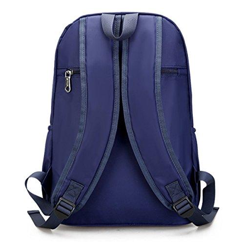 Chica Paño De Oxford Hombros Lona la Moda El Viento De La Universidad Bolsa De Viaje Mochila Blue