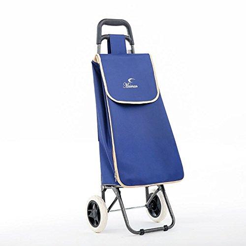 Alle Taschen leicht erweiterbar Shopping Trolley 2Rollen 40Liter Kapazität faltbar Gepäck Warenkorb navy Navy