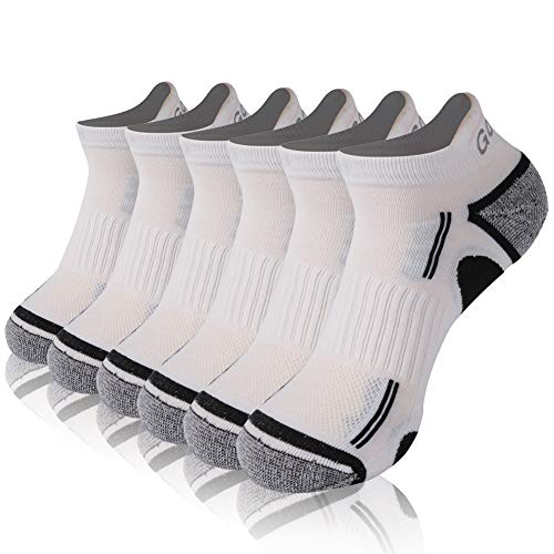 Cycling Low cut Socks, Gotops Men's Women's No Show Running Socks Low Cut Athletic Socks Ankle Socks Coolmax Moisture Wicking Antibacterial Socks No Smelly Feet Socks,6 Pairs