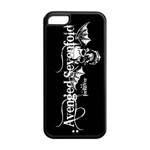 Protective TPU Rubber Coated Cell Phone Case Cover for iPhone 5C - A7X Avenged Sevenfold Kimberly Kurzendoerfer