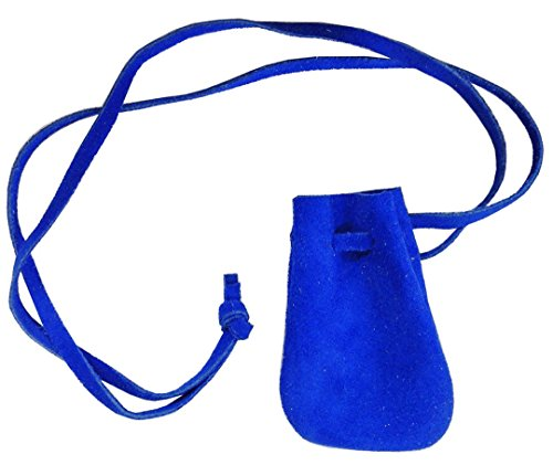 Small Leather Drawstring Medicine Necklace