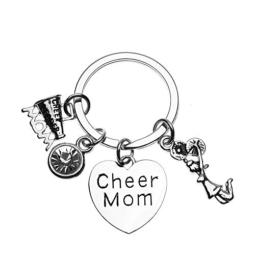 Cheer Mom Keychain, Cheer Mom Gift, Cheer Mom Charm Keyring Perfect Cheerleading Moms from Infinity Collection