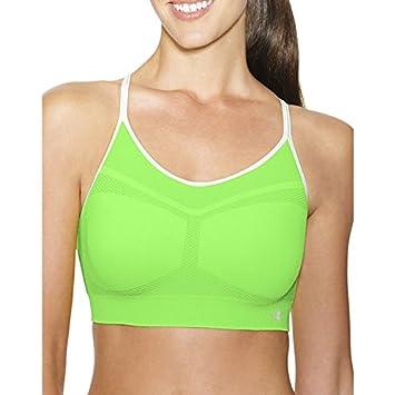 e155c443e7d83 Champion Women s Seamless Criss Cross Cami Sports Bra (Aurora Green White