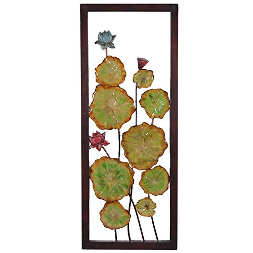 Essential D/écor Entrada Collection Flower Metal Wall Decor 38.3 by 1.5 by 1.5-Inch
