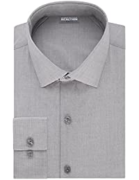 Men's Technicole Slim Fit Stretch Solid Spread Collar Dress Shirt