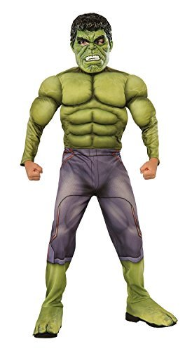 [Rubies Avengers 2 Age of Ultron Child's Deluxe Hulk Costume with Bonus Gloves (Medium)] (Kids Deluxe Ultron Costumes)