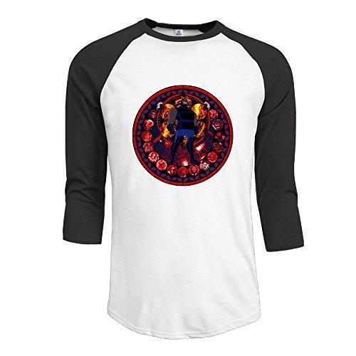 Darkseid Energy And Mass Manipulation Men 3/4 Sleeve Raglan Tee Shirts Summer Top