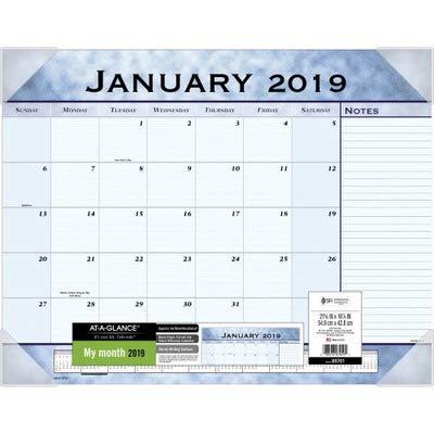 Pad Slate Blue Desk Calendar - AT-A-GLANCE 89701 Slate Blue Desk Pad, 22 x 17, Slate Blue , 2016