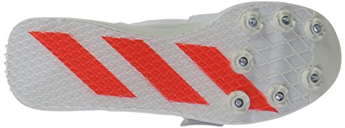 adidas Performance Adizero TJ / PV Laufschuh mit Spikes Weiß / Infrarot / Metallic Silber