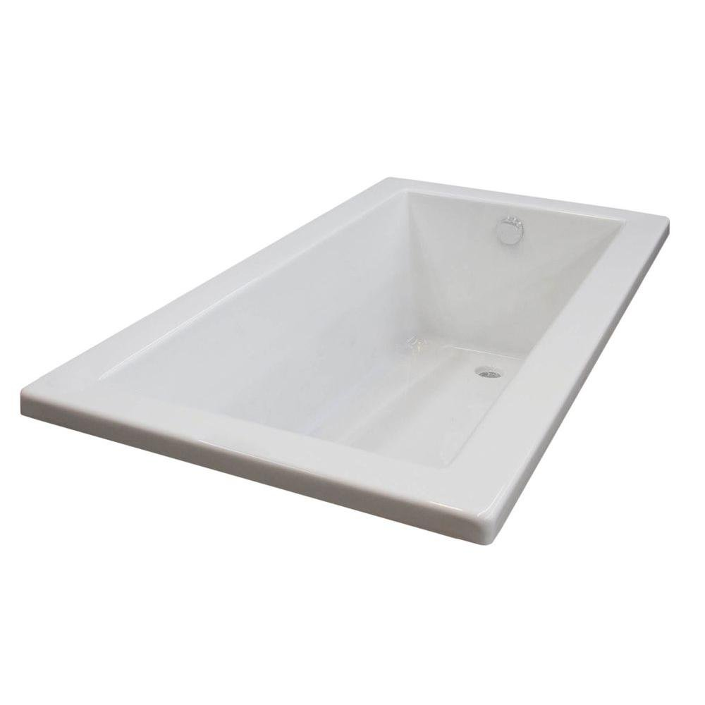 Universal Tubs Sapphire 5 ft. Reversible Drain Soaking Tub in White