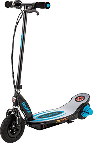 Razor Power Core E100 Electric Scooter with Aluminum Deck - Blue]()
