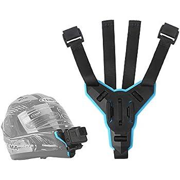 Amazon Com Telesin Motorcycle Helmet Strap Mount Front