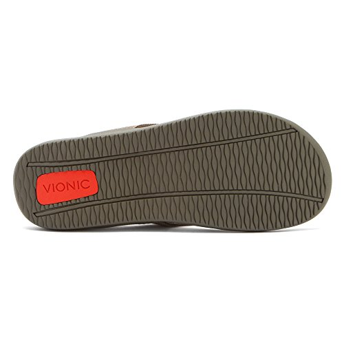 Wave Vionic with Orthaheel Unisex Technology Sandal Orthatic Khaki Aq1zBq