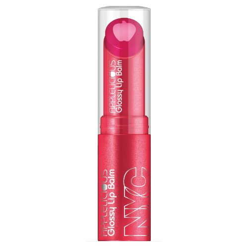 (6 Pack) NYC Applelicious Glossy Lip Balm - Applelicious Pink