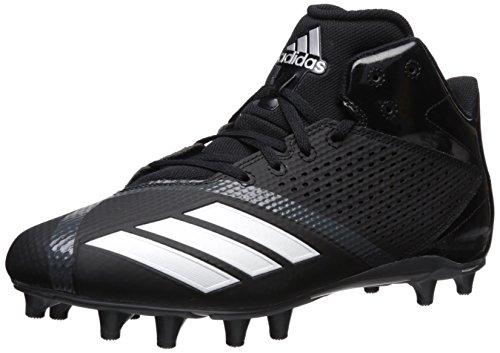 adidas Men's Freak X Carbon Mid Football Shoe, Black/White/Ngtmet, 11 M US