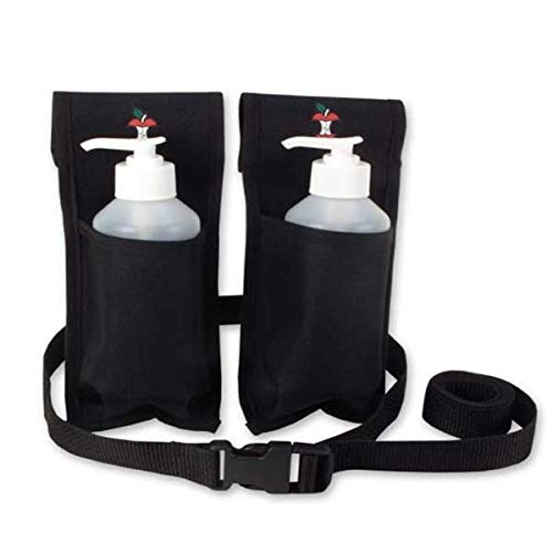 Double Oil and Lotion Holster With Bottles - Black