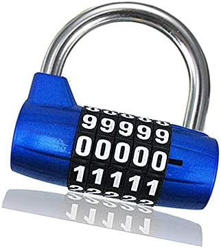 1個セット 補助錠 錠前 ナンバーロック 荷物 ジッパー袋 コンビネーションロックダイヤルロック5桁
