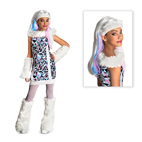 (Monster High Abbey Bominable Child Costume with Wig - Large)