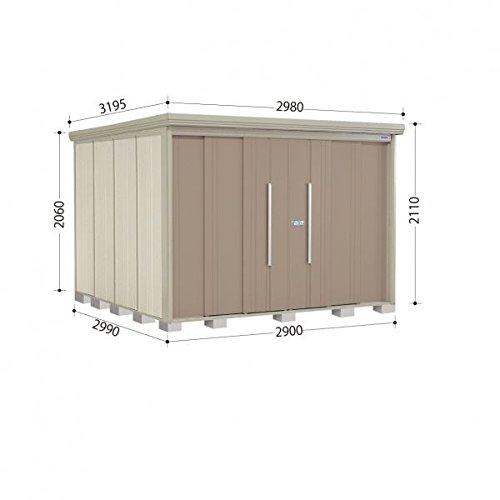 タクボ物置 ND/ストックマン 側面棚 ND-S2929Y 多雪型 標準屋根 『屋外用中型大型物置』 カーボンブラウン B018CAB30A