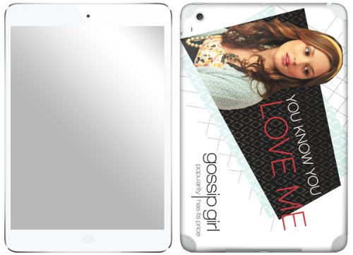 Zing Revolution Gossip Girl Premium Vinyl Adhesive Skin for iPad mini (ms-GGRL10389) (Mini Girl Gossip)