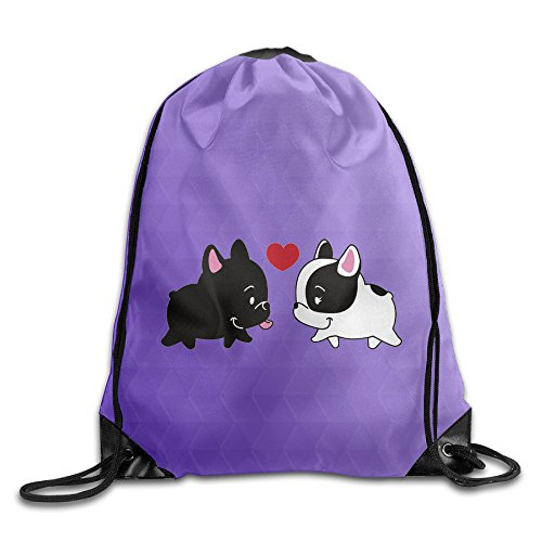Unisex French Baby Bulldog In Love Sports Drawstring Backpack Bag (Frenchie Costumes)