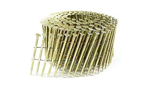 2 1/2'' x .090 RING GALVANIZED COIL NAILS 15 DEGREE WIRE 5.4M Box